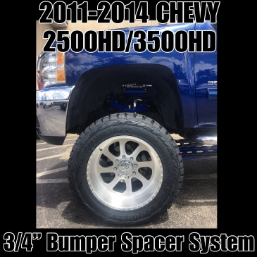 "11-14 Chevy 2500/3500HD 3/4"" Bumper Spacer Kit"
