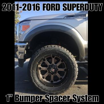 "99-16 Ford F-250/F-350/F-450 1"" Bumper Spacer Kit"
