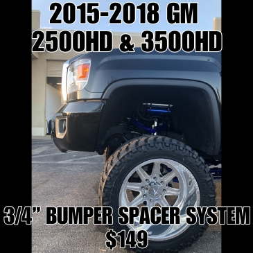 "15-19 Chevy 2500/3500HD 3/4"" Bumper Spacer Kit"