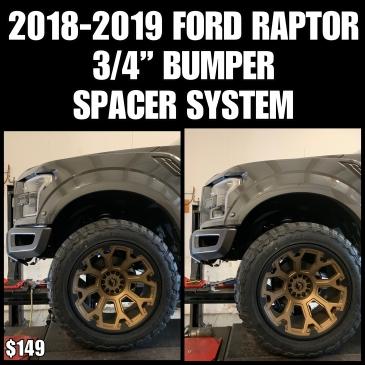 """18-19 Ford Raptor 3/4"""" Bumper Spacer Kit"""