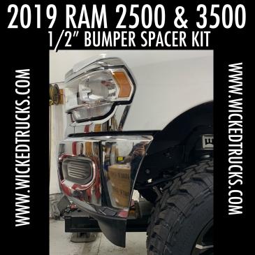"2019+ RAM 2500/3500 1/2"" Bumper Spacer System"