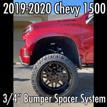 "2019-2020 Chevy 1500 3/4"" Bumper Spacer System"
