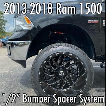 "2013-2018 Ram 1500 1/2"" Bumper Spacer System"
